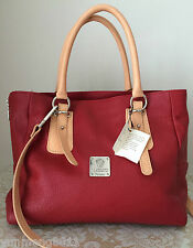 NWT I MEDICI Italian leather red Italy tote purse satchel bag neutral