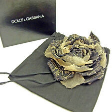 Auth Dolce & Gabbana Corsage Flower Ladies used J15922