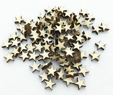 100pcs Wooden Blank Small Star Shapes Embellishments Crafts Scrapbooking