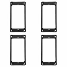 Kmise Z4522 4 Piece Flat Metal Humbucker Pickup Mounting Ring Black