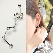 1 Pc Inlay Rhinestone Ear Clip Big Dipper Shape Fashion Jewelry Decoration Gift