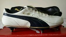 PUMA KING XL SG BIANCA BLU GOLD N. 44 TOP IN PELLE PROFESSIONALI LIMIT OKKSPORT