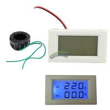 AC Digital Ammeter Voltmeter Dual Display LCD Panel Amp Volt Meter 100A 200-500V