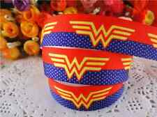 "1m WONDER WOMAN GROSGRAIN RIBBON 7/8"" 22mm HAIR BOW CAKE RIBBON"