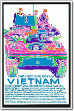Support our Boys in Vietnam Poster, 1971 Anti-War Poster Reproduction, 11X17