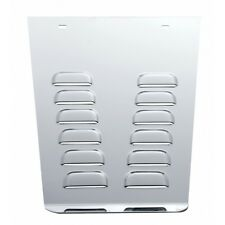 mud flap anti sail plates(2) louvered stainless steel for class 7&8 semi trucks
