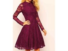 BNWT ��COAST �� Size 12 New ARABELLA MULBERRY LACE FLARE SKATER 50'S DRESS  £170