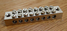 Cable commoning block, Earth block, electroplated brass, 8 way    ECB8