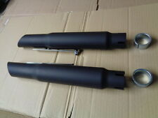 YAMAHA XS650 SLASH CUT SILENCERS MATT BLACK FINISH , CAFE RACER, CHOPPER W23
