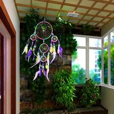 Dream Catcher Feathers Rainbow Wall Room Hanging Decoration Decor Bead Ornament
