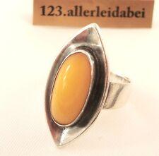 Art Deco Butterscotch Bernstein Ring 935 er Silber real amber / AN 741