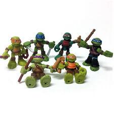 6pcs TMNT Half-Shell Heroes Teenage Mutant Ninja Turtles Action Figure Kid Toy