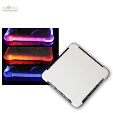6er SET LED Glas-Untersetzer mit Farbwechsel RGB LEDs