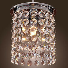 Small Ceiling Light Fixture Crystal LED Pendant Lamp Hallway Hanging Chandelier