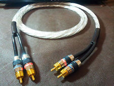 1m HIFI RCA Interconnect Audio Cable Phono Monster Plug Silver Plated Wire