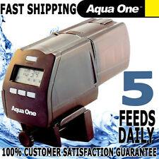 Aqua One Aqaurium Pond Adjustable Automatic Digital LCD Fish Food Auto Feeder