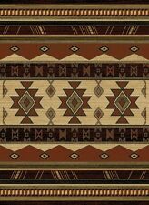 "5x8 (5'3"" x 7'2"") Southwestern Western Lodge Cabin Tribal Rust Area Rug"