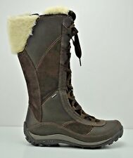 Womens Merrell Prevoz Waterproof Winter Brown Leather Boots Size 6 J20258
