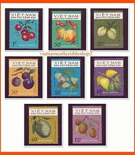Vietnam -  Fruits of South Vietnam/ Food/ Plants/ Flowers/ Nature 1975 #297  MNH