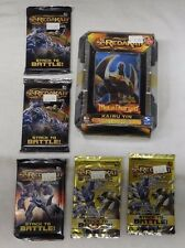 Spin Master REDAKAI METACHARGED KAIRU TIN + 5 Packs (3 Power, 2 Gold) Lot A -NIP