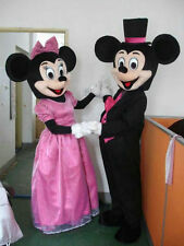 Mickey and Minnie Mouse Mascot Costume Fancy Dress Adult Suit 1 pair Express