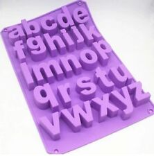 Cake Mold Lowercase Letter Alphabet Flexible Silicone Mould For Chocolate Soap