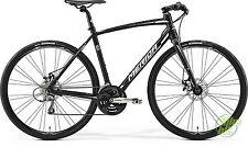 MERIDA SPEEDER 100 Fitnessbike matt-schwarz/weiß 2017 Komplettrad RH 52cm
