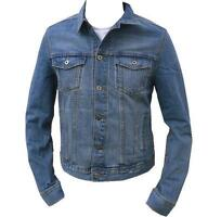 Mens Stonewash Denim Jacket Casual Denim Jean Trucker Western Vintage S M L XL