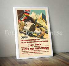 Vintage car poster car racing motorsport rennwagon - A4 Hans Stuck 1938