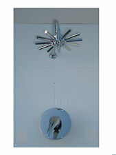 NEW ALL METAL CHROME CONCEALED SHOWER MIXER TAP VALVE, STAR HEAD & ARM SET, 007