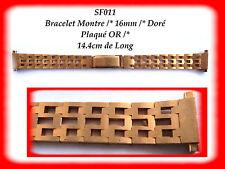 BRACELET MONTRE PLAQUÉ OR - DORÉ 16 mm REF.SF011
