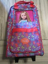 """My Life As Doll Carrier Travel Rolling Luggage Case 18""""; Fits Our Generation"""