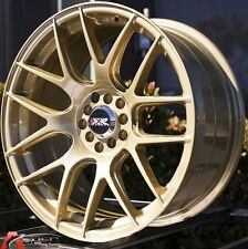18X9.75 XXR 530 WHEELS 5X100/114.3 +20MM 73.1 GOLD FITS LANCER EVOLUTION 10