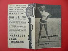 Dépliant pub MARABOUT collection - Mes hommes dans un bateau / R.P.  GOSSET