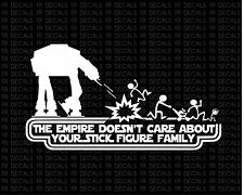 empire stick figure 2 star wars Vinyl decal sticker funny car auto window