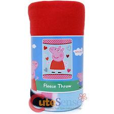 Peppa Pig Fleece Blanket Throw 46 x 60 Peppa Hearts