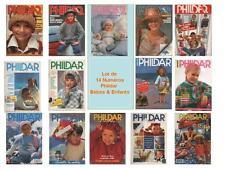 Lot 14 Magazines Phildar Bébés & Enfants - Mailles & Créations TRICOT CATALOGUE