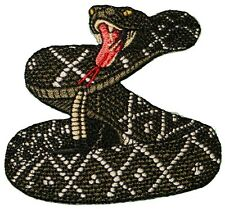 RATTLESNAKE Diamond Back Embroidered Iron on or sew on Patch/Applique 3 DARK
