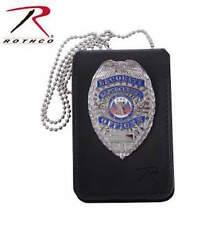 Universal Leather Police Sheriff Trooper Security Badge & ID Holder  1136
