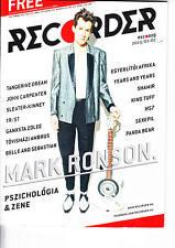 MARK RONSON, DIANA KRALL,TANGERINE DREAM,BELLE AND SEBASTIAN Hungarian magazine