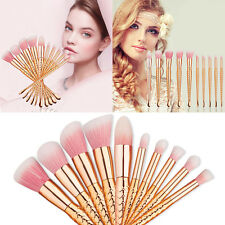 10× Mermaid Style Pro Make-up Pinsel Set Kosmetik Pinsel Schminkpinsel Brush Set