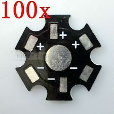 100 Star 20mm High Power 1W/3W LED Heat Sink Aluminum Base plate New