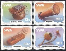 SWA/South West Africa 1985 Music/Traditional Instruments/Drum 4v set (sw10101)