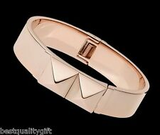 NEW MICHAEL KORS POLISHED ROSE GOLD PYRAMID STUD BANGLE BRACELET MKJ2910