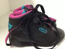 Reebok Shoes 8.5 Fitness Hi II 72-8526 Black Teal 1990S Vintage Sneakers