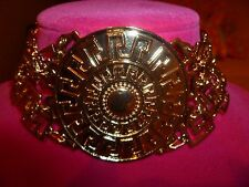 NWT 100% Authentic Versace for H&M Gold-Tone Medallion Choker Necklace.