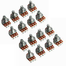 16pcs Guitar Potentiometer A500k 16mm Base Dia/18mm Shaft Guitar Parts