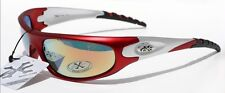 400UV Men RED SILVER SMOKE X-loop Sunglasses BASEBALL