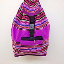Native RASTA Artisan Hippie Baja Boho Ethnic Backpack Beach Handmade in Peru S03