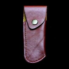 """COWHIDE LEATHER SHEATH TAN COLOR HAND MADE FOR FOLDING KNIFE SG-03 L.=5.9"""""""